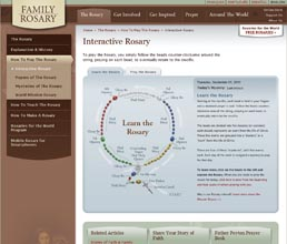 Beautiful Interactive Rosary to pray with