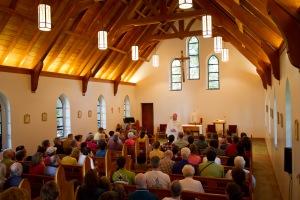 Bishop Burns During Mass (1 of 1)