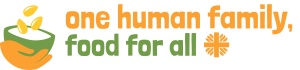 Logo for 'One Human Family, Food for All' campaign organized by Caritas Internationalis