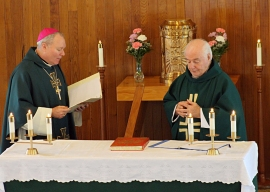 Bishop Burns Prayer for Fr. Jim