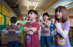 Preschoolers sing Lenten song 'Were You There' at Holy Name School in Ketchikan, Alaska