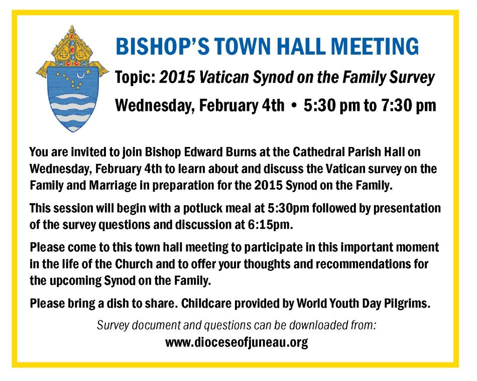 Bishop's town hall meeting